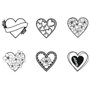 цветочные сердечки 2