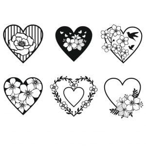 цветочные сердечки 3