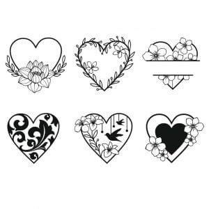 Цветочные сердечки
