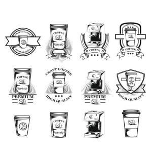 Кофейные логотипы