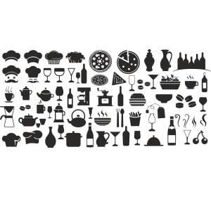 Набор иконок кухня