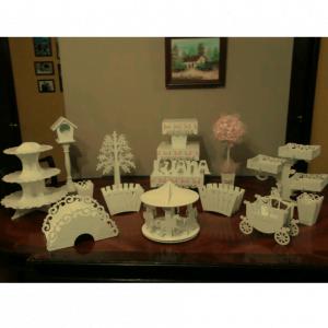 Набор подставок, салфетниц и декора