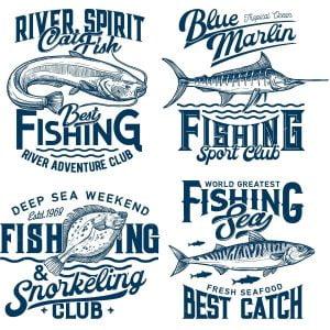 Рыбные логотипы