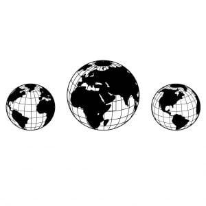 Рисунок глобуса