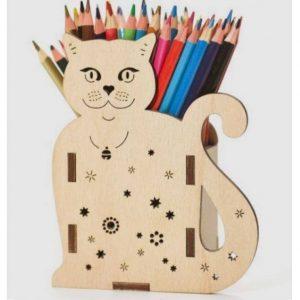 Карандашница кот