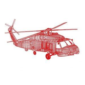 Основа для ночника вертолёт