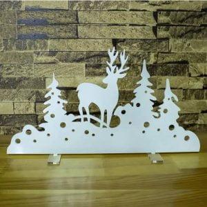 Рождественская декорация лес